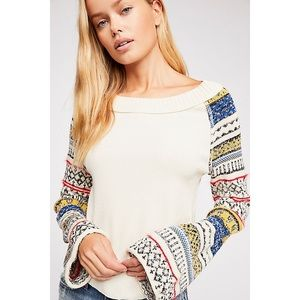 Free People Fairground Thermal Sweater Top